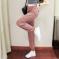 6255#韩版运动裤女宽松束脚初秋薄款九分嘻哈直筒休闲高腰裤子