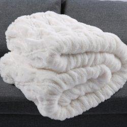 140*200 双层立体兔毛超柔绒加兔毛盖毯2.2公斤