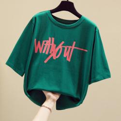 5560#实拍2020夏装新款大量现货宽松女装短袖t恤 女士韩版简约潮