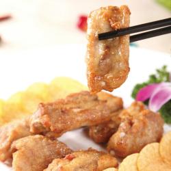 益大嘉精制蒜香骨400g/袋 肋排骨吮指骨 半成品炸物腌制冷冻食品
