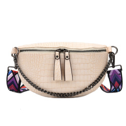 法国小众设计质感流行包包时尚网红小包复古鳄鱼纹腰包胸包斜挎包b-qh-238