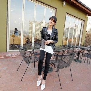 韩国 黑色牛仔裤铅笔裤修身显瘦小脚长裤