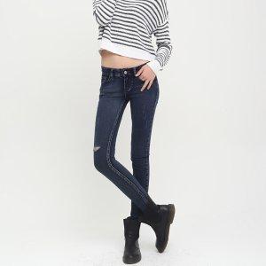新款破洞牛仔裤 女 小脚裤 水洗磨破 裤子女韩版显瘦