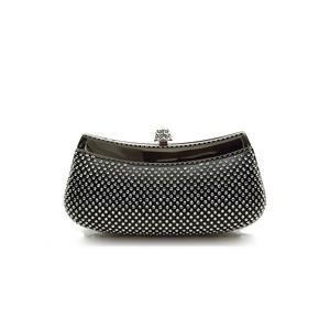 【DBEY】2016新款 金属开关 绸缎布 高品质水钻 金属链条 绒布时尚女包 3102052