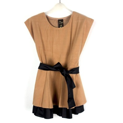 娜斯芮-可爱时尚束腰皮带连衣裙 914#