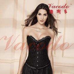 【维珂多】性感舞台装 束身衣+短裙 完美身形8819