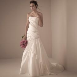 欧美时尚抹胸拖尾钉珠婚纱礼服 8312