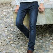 屌丝一族 修身直筒牛仔裤1365