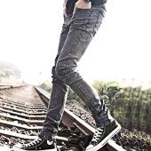 屌丝一族 紧身牛仔裤男铅笔裤男韩版牛仔裤809