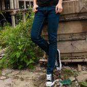 屌丝一族 紧身牛仔裤男铅笔裤男韩版牛仔裤802