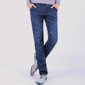 屌丝一族 修身直筒牛仔裤1331