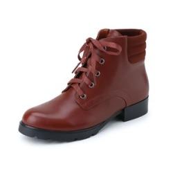 妙媚尔 真皮英伦大扣靴 舒适低跟矮靴MD851506