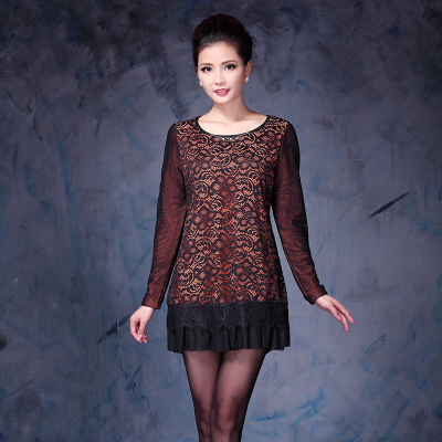 依丝路易 时尚蕾丝保暖纱衣 13358