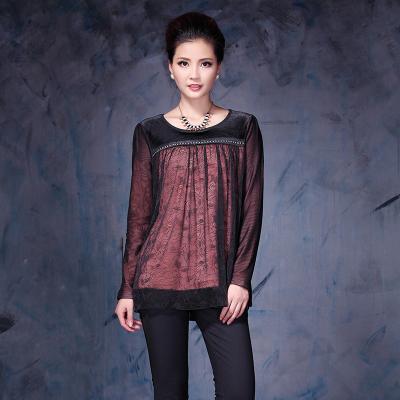 依丝路易 时尚大版网纱保暖衣 13327
