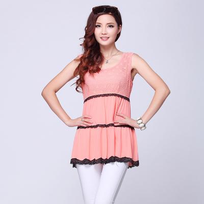 依丝路易 时尚网纱背心裙 D-593