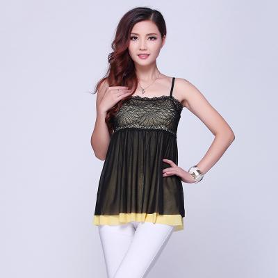 依丝路易 时尚网纱吊带 13627