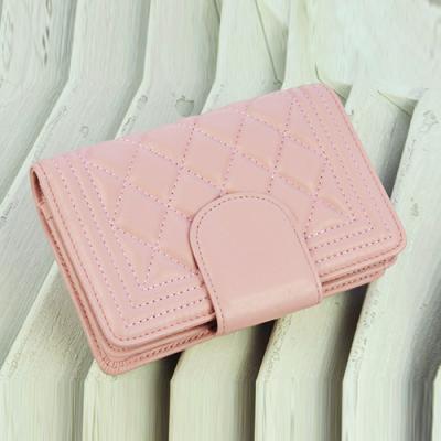 玛莉思曼 新款两折短款钱包欧美潮时尚真皮菱格女式皮夹多卡位羊皮 6013