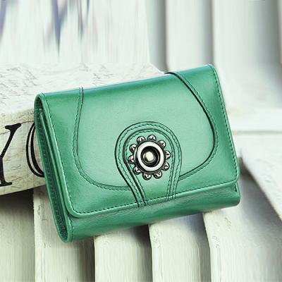 玛莉思曼 女式钱包短款真皮油蜡牛皮钱包女短款韩版可爱 5826