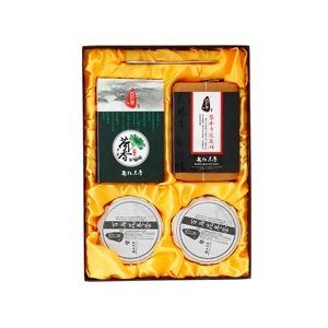 四韵集 大四喜 安化黑茶茯砖茶800g 百两茶荷香茶 降三高大四喜 湖南特产 茶叶礼盒