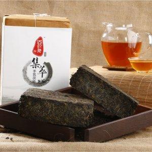 四韵集   集鼎荷香手筑茯砖400g 黑茶茶叶 湖南安化黑茶黑毛茶茶叶