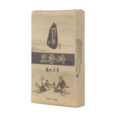 四韵集黑砖茶 1000g 安化黑茶 湖南安化茯砖茶 金花黑茶买一送五