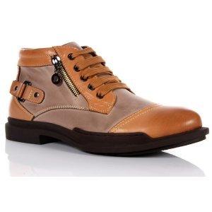 新品冬靴 西部牛仔靴真牛皮绒里男鞋工装皮鞋男式靴子休闲皮鞋