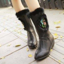 【90包邮】康妃妮·时尚新款毛绒长款女靴 131001