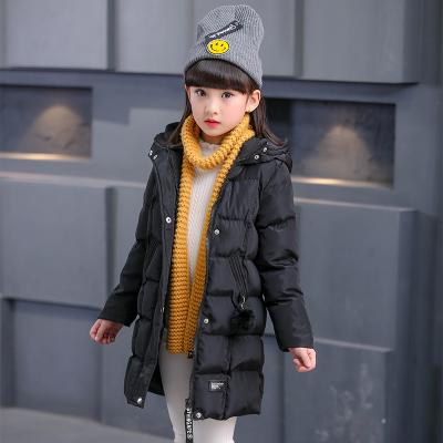 儿童羽绒服中长款童装2017新款韩版女童冬装加厚连帽外套
