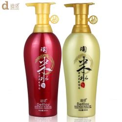 迪诺 红瑶淘米水养发米浆水洗护套装洗发水500ML+护发素500ML