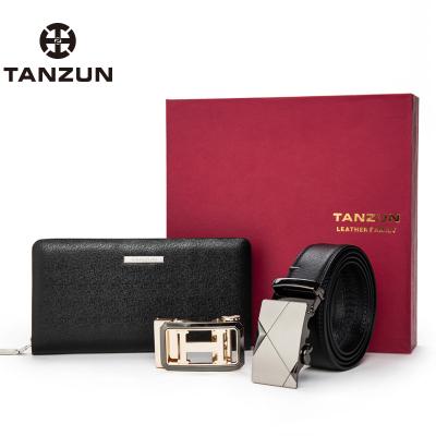 TANZUN/天尊 2017年新品上市 时尚商务手包皮带套装 E15025E