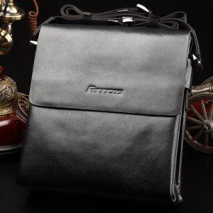 【菲利克斯】休闲男士斜跨包包盖式包包男包牛皮包 FE7846-4
