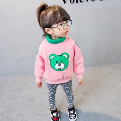 一件代发女童卫衣冬季韩版儿童保暖上衣宝宝加绒加厚卫衣中小童
