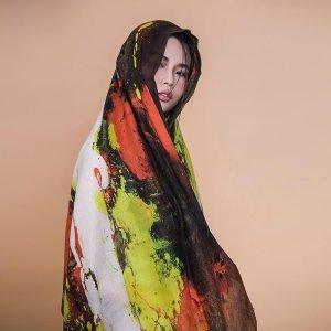 再艺术 李纲艺术衍生品羊毛丝巾 YM1501HH09