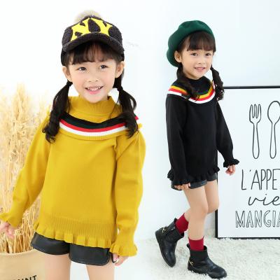 一件代发童装女童毛衣2017新款秋冬季儿童韩版针织衫冬装女孩外套