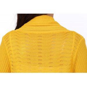 春季新款女装宽松大码针织开衫 中长款时尚百搭披肩空调衫