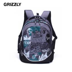 【GRIZZLY 】2016时尚印花街头旅行大容量运动防泼水旅游背包 中学生书包男女双肩包 RU-528-1