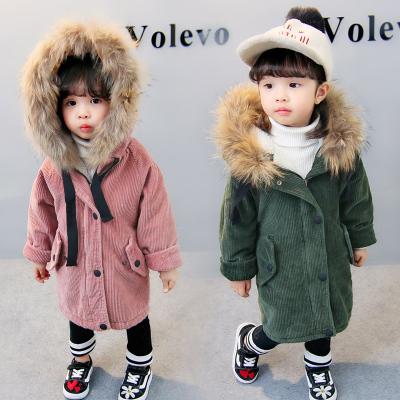 一件代发女童风衣2017冬季新款童装中小童休闲儿童中长款女孩外套