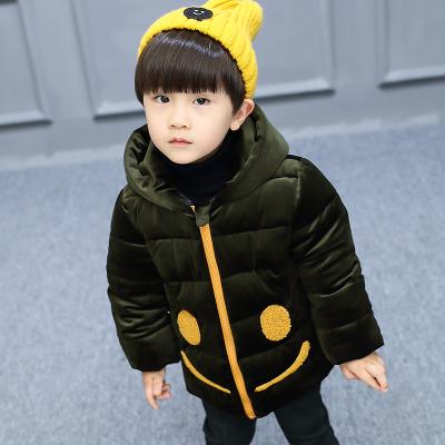 一件代发童装男童冬装棉衣2017新款中大童棉服男孩加厚短款外套