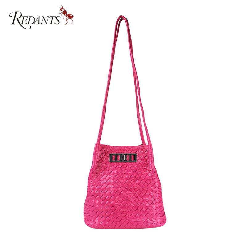 Redants红蚂蚁 2016手工编织单肩斜跨女士几何包