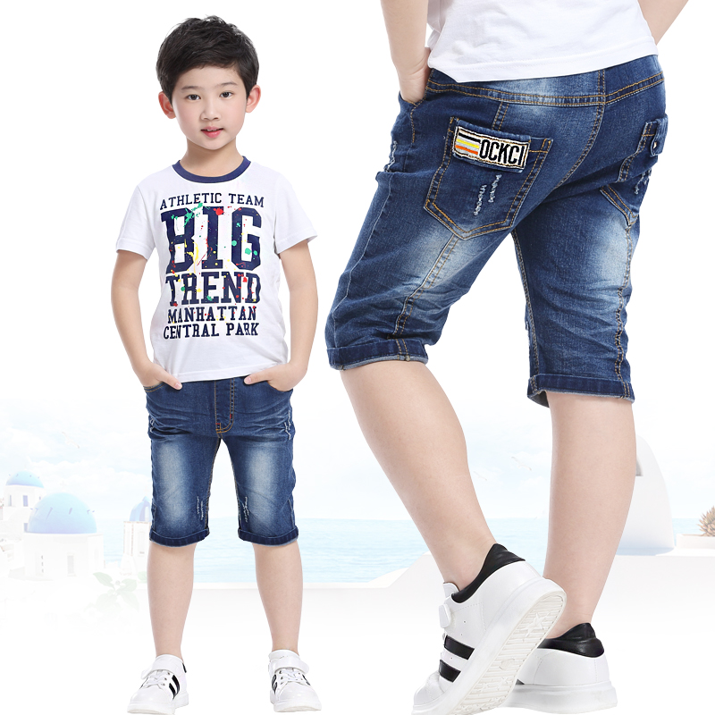 童装儿童休闲牛仔短裤2017夏装男童...