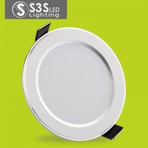 s3s LED筒灯3W 2.5寸全套 客厅防雾超薄3W天花灯筒灯8公分