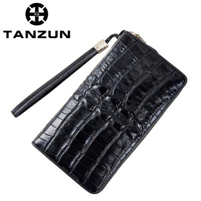 TANZUN/男士商务时尚鳄鱼纹牛皮定型手拿包 T7038
