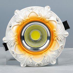 领冠照明 SG-13-H(米黄)树脂手工雕塑天花灯