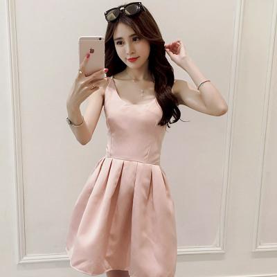 女人志 韩版时尚吊带连衣裙 624