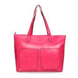新款糖果色手提单肩子母包 大容量设计 亮皮潮包