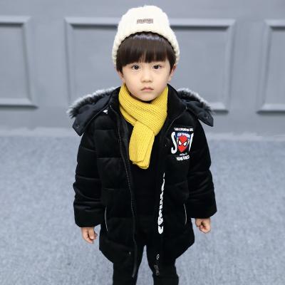 一件代发童装男童冬装棉衣2017新款中小童棉服男孩加厚短款外套潮