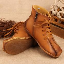 """戈登 新款<span class=""""gcolor"""">靴子</span>侧拉链女靴秋款短靴真皮女靴欧洲站软底 170-2"""