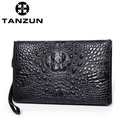 TANZUN/天尊  男士商务定型高品质鳄鱼纹手拿包  T7032