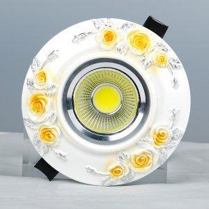 领冠照明 SG-15-H(手描米黄色)树脂手工雕塑天花灯