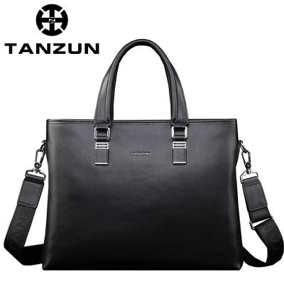 TANZUN/天尊 2016年英伦时尚商务男士牛皮手提斜挎包 T7004